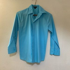 Kids blue button down